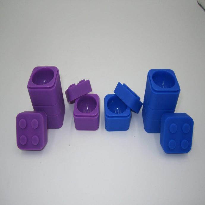 Silicone Small Lego Container - Asst Colors - Shag Alternative Superstore