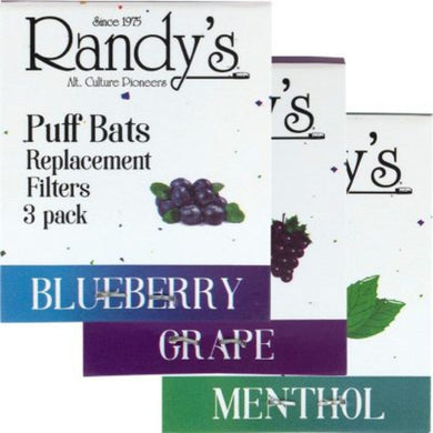 Randy's Puff Bat Flavored Filter Refills - 3 Pack - Shag Alternative Superstore