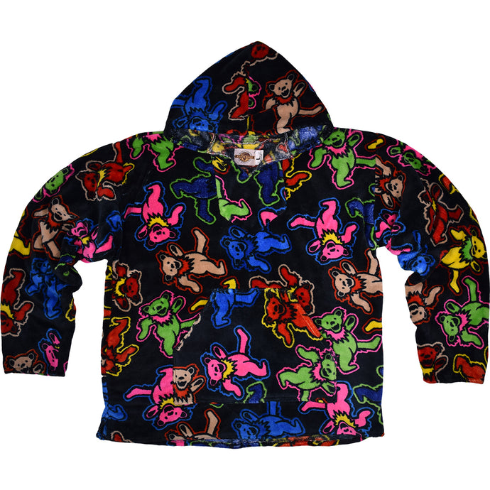 Grateful Dead Dancing Bears Fleece Baja Hoodie - Shag Alternative Superstore