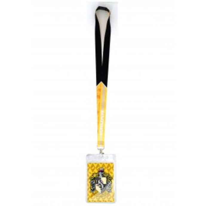 Harry Potter Hufflepuff Crest Lanyard With Card Holder