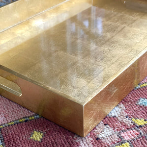 Gold Leaf Lacquer Tray | Med |