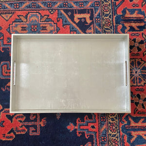 Silver Leaf Lacquer Tray | Med |