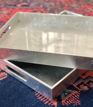 Load image into Gallery viewer, Silver Leaf Lacquer Tray | Med |
