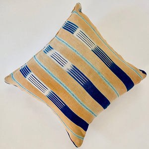 Navy Striped Moroccan Pillow