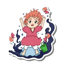 Load image into Gallery viewer, STICKER:// Ponyo Wave