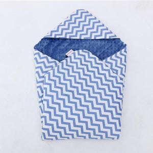 Little Love Car Seat Blanket Blue Chevron