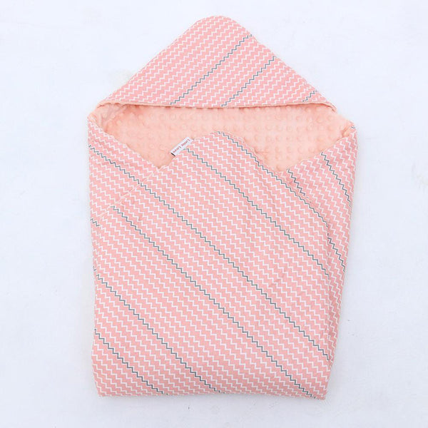 Little Love Car Seat Blanket Pink Zig Zag