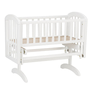 Glider Crib WHITE INCLUDING MATTRESS