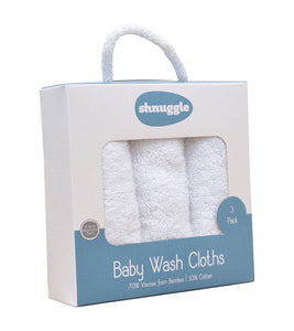Shnuggle Bamboo Wash Cloths 3/pk