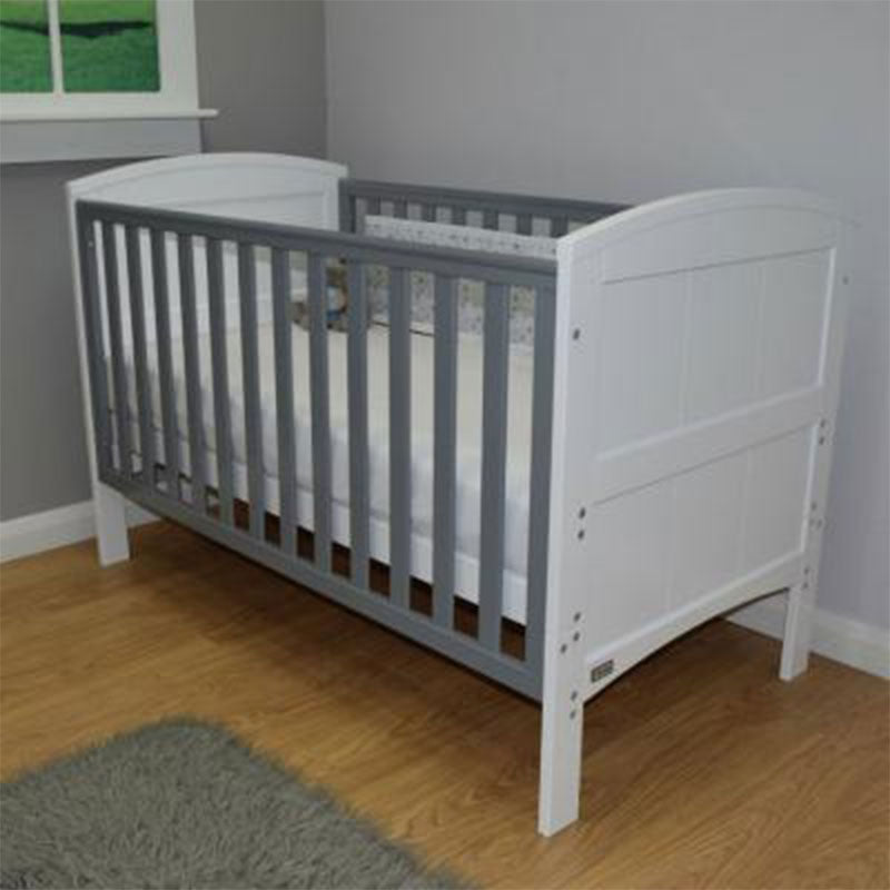 Stockholm Cot Bed - White/Grey
