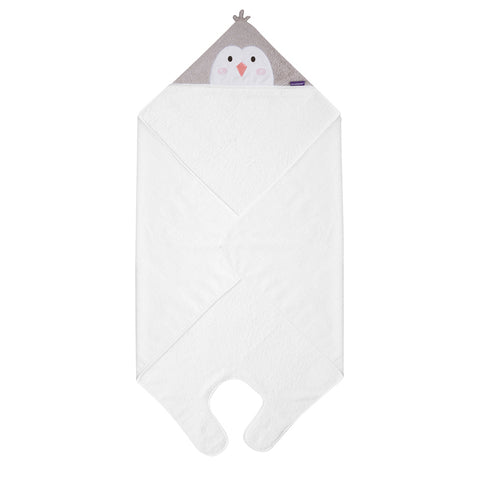 Bamboo Apron Baby Bath Towel - White