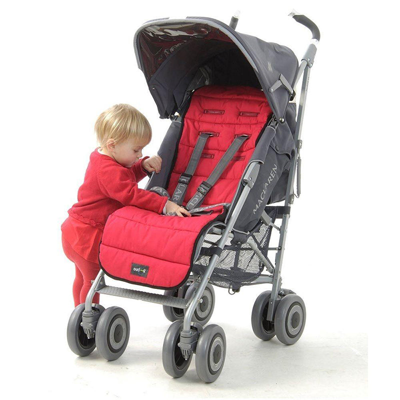 Outlook pram liner cotton - Red