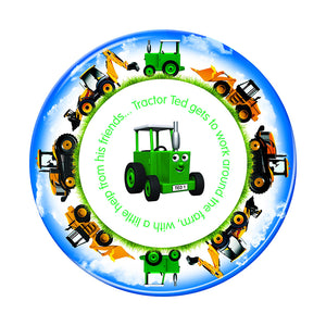 Tractor Ted Digger plate