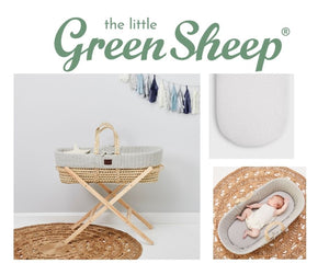 The Little Green Sheep Moses Basket 3 piece Bundle