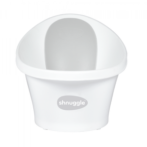 Shnuggle Bath & Plug-White/Grey