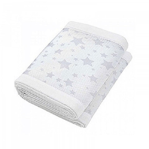 Breathable Mesh Cot Liner- Twinkle Grey