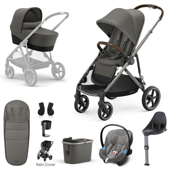 Cybex Gazelle Taupe Frame - 9 Piece Bundle