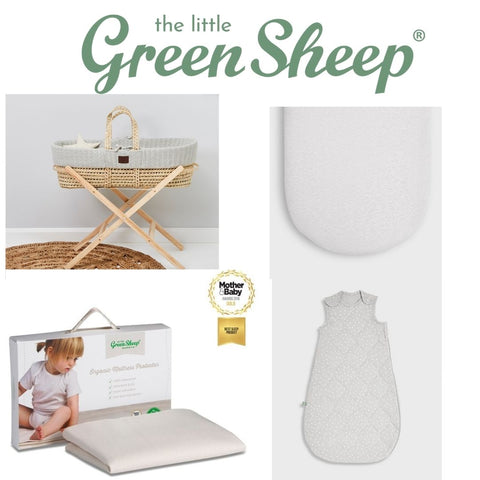 The Little Green Sheep Moses Basket 5 Piece Bundle