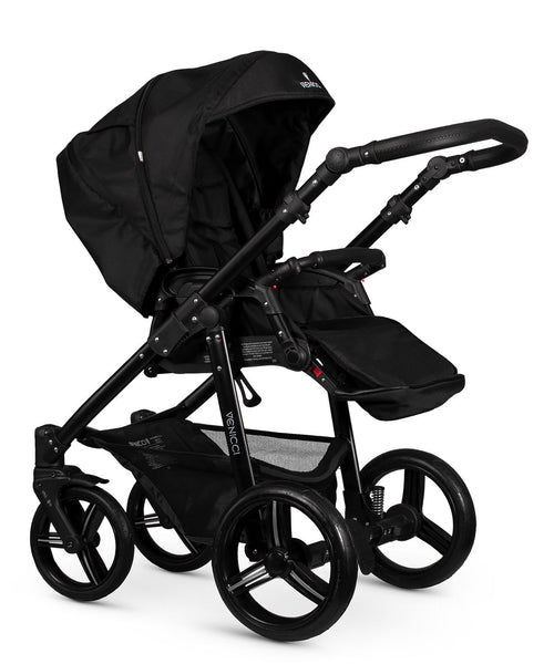 Venicci Soft Black - Black chassis Pram package