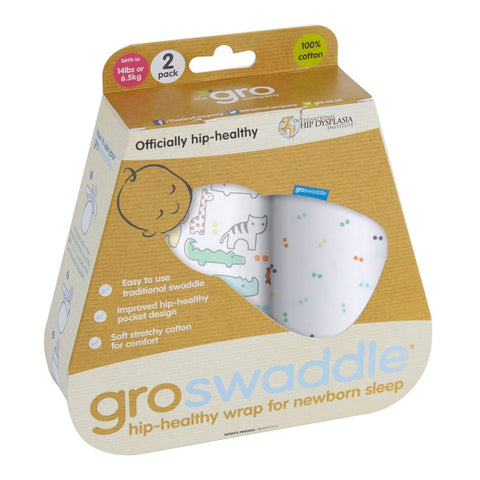 Gro Swaddle-Animal Fair Twin Pack