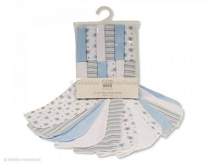 Baby soft Wash Cloths-12x pack Blue
