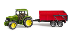 John Deere 6920 With Tipping Trailer Red
