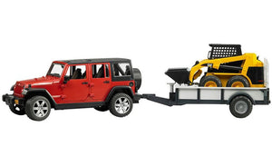 Jeep Wrangler Rubicon With Trailer & CAT