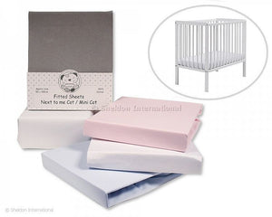 Snuggle baby Cot Sheets 2x pack White