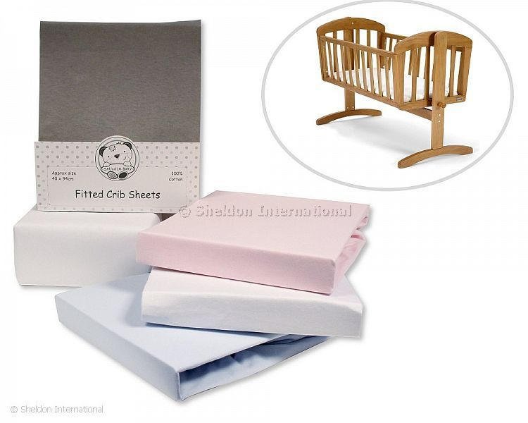 Snuggle baby Crib Sheets 2x pack WHITE