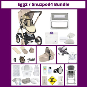 Egg2 Pram Package / Snuzpod4 Baby Essentials Bundle