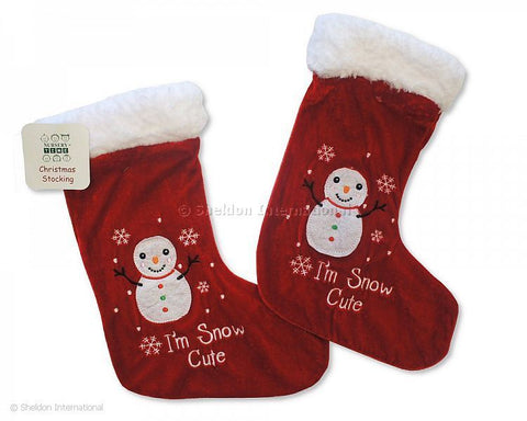 Baby Christmas Stocking Snow Cute