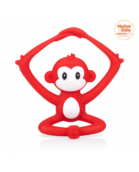 Nuby- Yogis Teether-Red/Blue