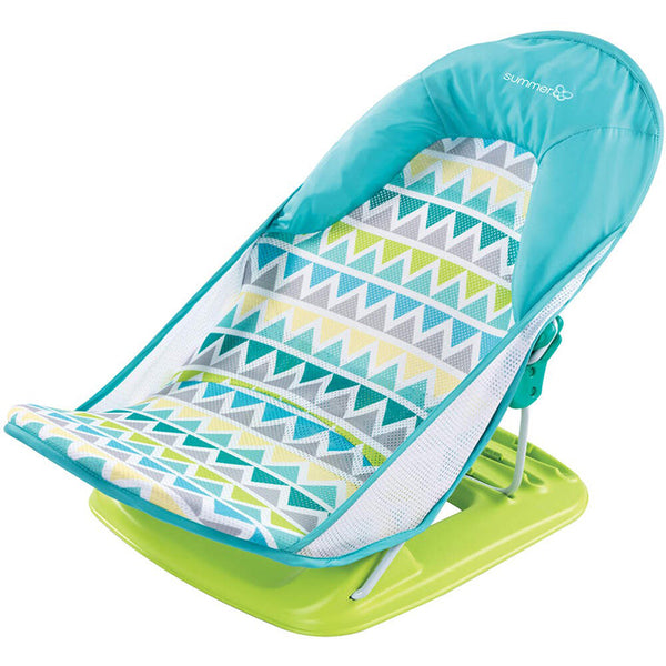 Deluxe Baby Bather - Triangle Stripes Blue