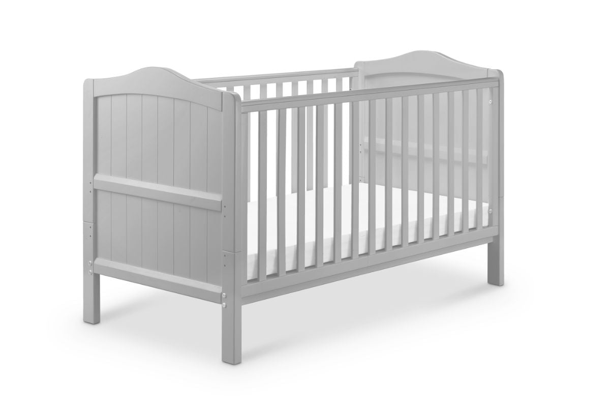 Babylo Ella Cotbed With Mattress-Grey