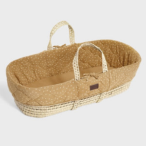 Quilted Moses basket & mat HONEY RICE