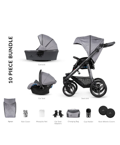 Venicci Carbo Natural Grey LUX Pram Package