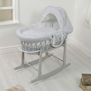Cuddles Rocking Wooden Stand - Grey
