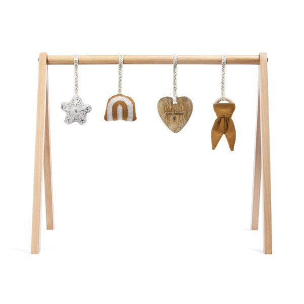 Wooden play gym & charms RAINBOW