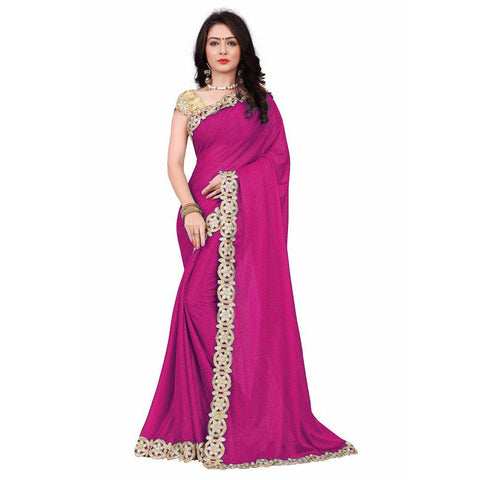 f352fbad888623 Adorable Pink Colored Designer Festive Wear Saree – Palav Art