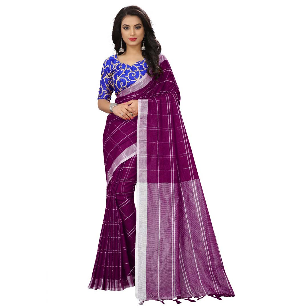 0110f7b97e Beautiful Magenta Colour Chanderi Silk Fancy Saree – Nistha Fab