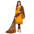 Yellow Colored Embroidery Slub Cotton Salwar Suit