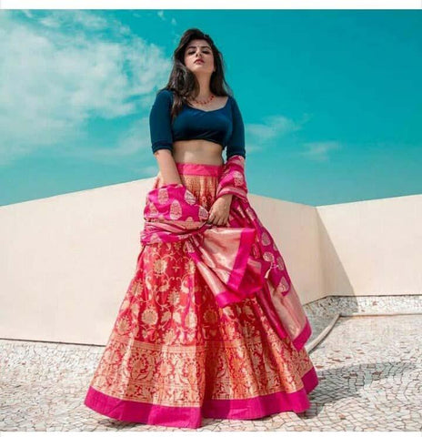 6b390a4aa8 Create a smoldering impact by this multi colored bangalory silk,lehenga  choli. The ethnic embroidered work within the apparel ...