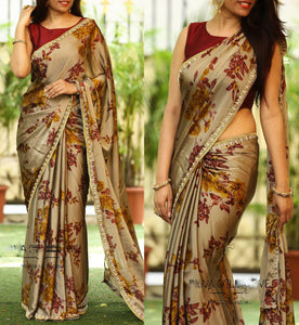 Multi Colour Soft Silk Designer Saree-Palav Art