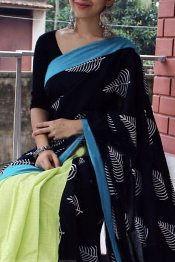b861ced855 Refreshing Black Colored Soft Silk Fancy Partywear Functional Saree-Palav  Art