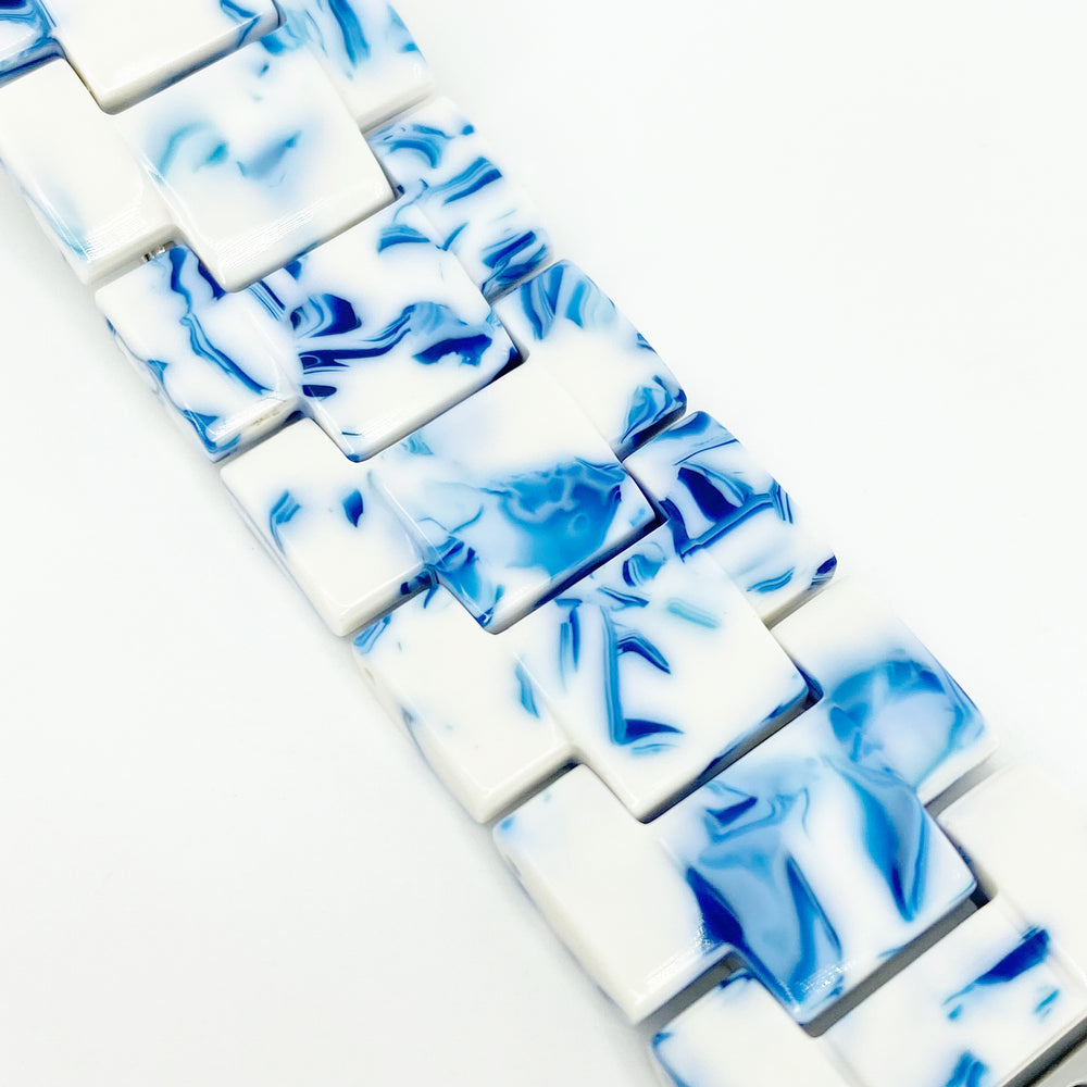 Apple Watch Band in Blue and White