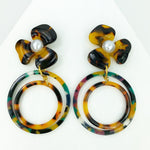 Pearl Water Poppy in Tortoise with Jungle Punch and Tortoise Double Drop Hoop