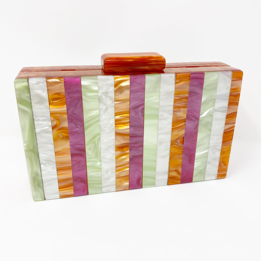 Acrylic Party Box in Spring Stripe