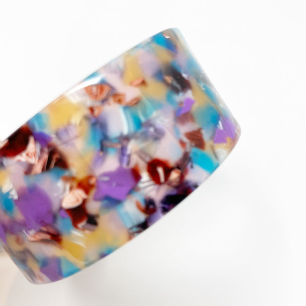 Large Cuff in Turquoise and Purple