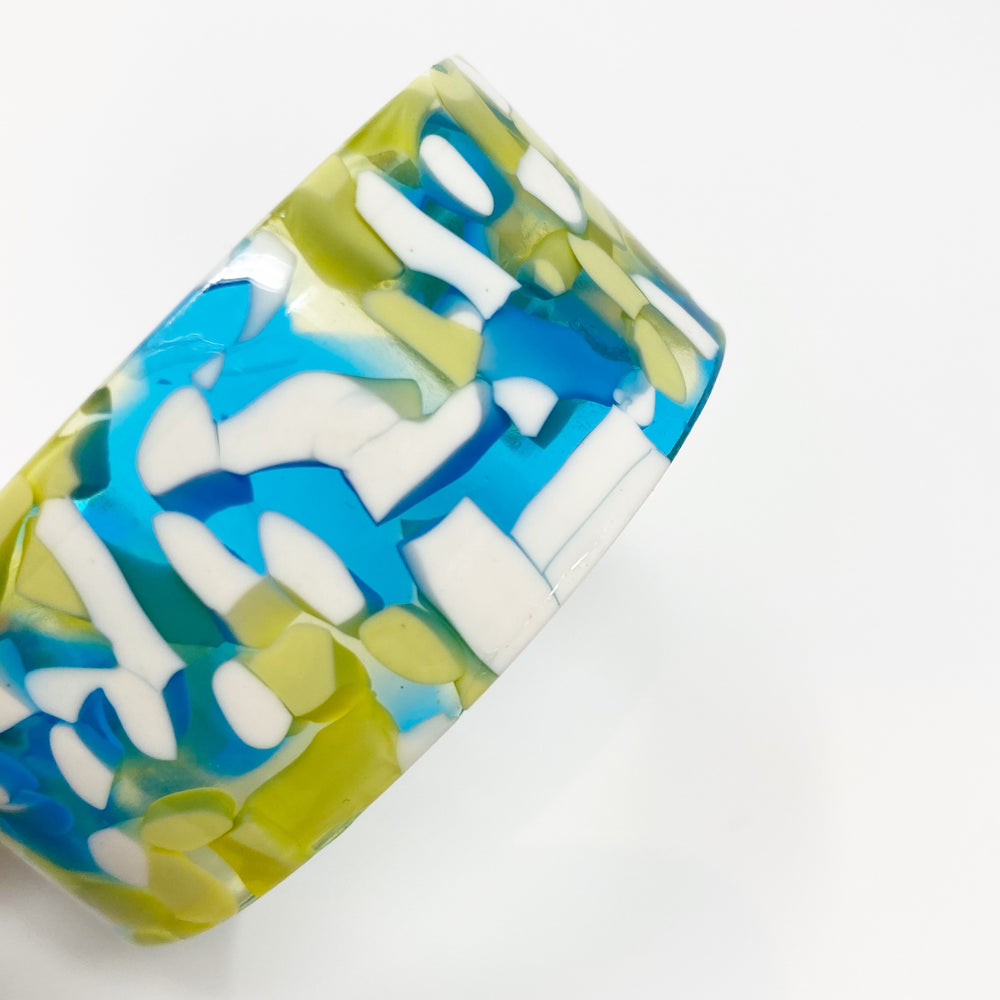 Large Cuff in Bright Blue and Green
