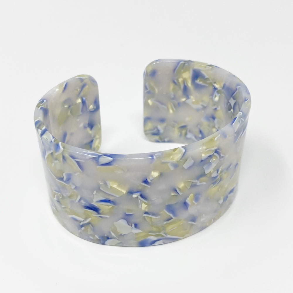 Large Cuff in Light Green and Blue